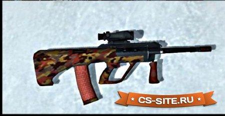 Модель AUG «Red Camo» для CS 1.6
