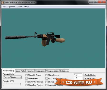Программа просмотра моделей CS 1.6 — Half-Life Model Viewer 1.2.5