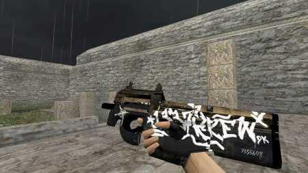 Модель HD P90 «Wasteland Rebel» для CS 1.6