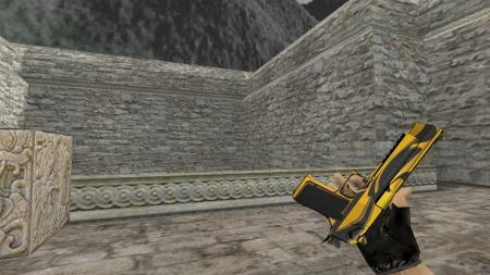 Модель HD Deagle «Yellow Jacket» с анимацией осмотра для CS 1.6
