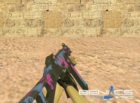 """CS 1.6 Модель UMP45 """"Cyberpunk"""" » Плагины, модели оружия, готовые сборки серверов для CS 1.6, CS:GO, CSS"""