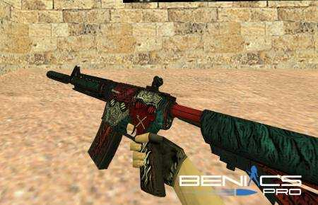 """CS 1.6 Модель M4A4 """"Cutter"""" » Плагины, модели оружия, готовые сборки серверов для CS 1.6, CS:GO, CSS"""