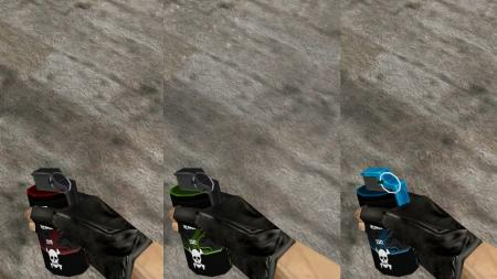 Пак моделей гранат «Colored Mechanical» для CS 1.6