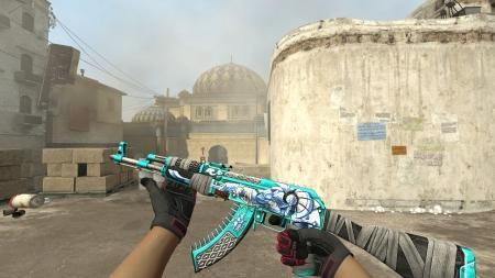 Модель AK-47 «Anubis Blue» для CSS