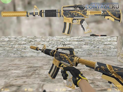 Модель M4a1   Golden Coil для CS 1.6