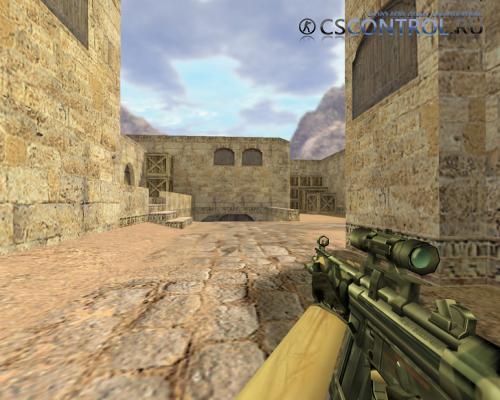 Модель «MP5 Камуфляж с оптикой» для CS 1.6