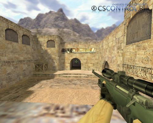 Модель оружия «AWP с прицелом» для CS 1.6