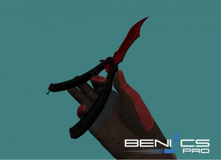 Пак ножей бабочка из CS:GO для CS 1.6