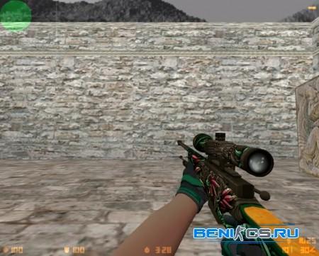 AWP KUKULCAN+Moto Turtle модель для CS 1.6 в HD качестве » Плагины, модели оружия, готовые сборки серверов для CS 1.6, CS:GO, CSS