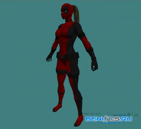 Женская модель игрока для CS 1.6 DeadPool » Плагины, модели оружия, готовые сборки серверов для CS 1.6, CS:GO, CSS