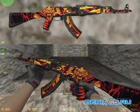 HD AK47 DEMON + Spetsnaz Crimson kimono » Плагины, модели оружия, готовые сборки серверов для CS 1.6, CS:GO, CSS