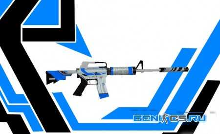 """Модель оружия """"M4A1 Blue Asiimov"""" » Плагины, модели оружия, готовые сборки серверов для CS 1.6, CS:GO, CSS"""