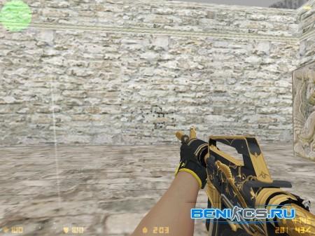 HD Golden coil M4A1-S for CS 1.6 + Omega Sport gloves » Плагины, модели оружия, готовые сборки серверов для CS 1.6, CS:GO, CSS