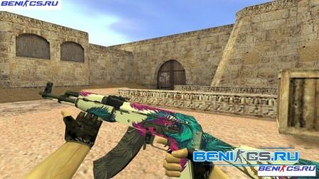 """CS 1.6 Модель АК-47 """"Синий волк"""