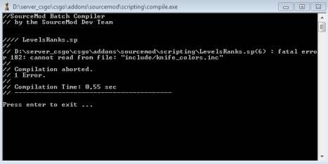 Установка SM плагинов на сервер CS:GO